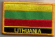 Lithuania Embroidered Flag Patch, style 09.